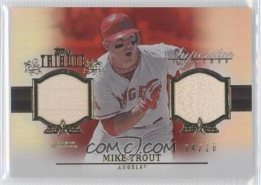 2013 Topps Tribute Superstar Swatches Relics Red #SS-MT - Mike Trout /10