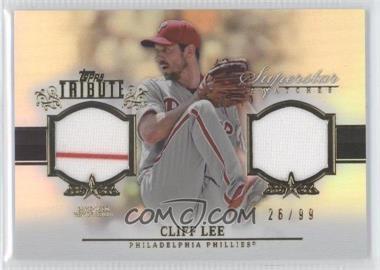 2013 Topps Tribute Superstar Swatches Relics #SS-CL - Cliff Lee /99