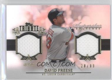 2013 Topps Tribute Superstar Swatches Relics #SS-DF - David Freese /99