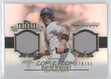 2013 Topps Tribute Superstar Swatches Relics #SS-DW - David Wright /99