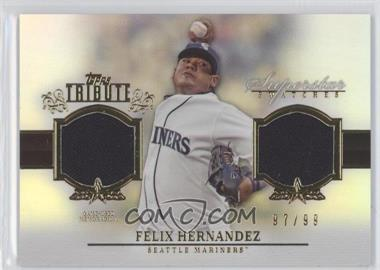 2013 Topps Tribute Superstar Swatches Relics #SS-FH - Felix Hernandez /99