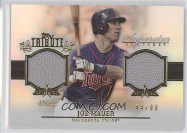 2013 Topps Tribute Superstar Swatches Relics #SS-JM - Joe Mauer /99
