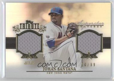 2013 Topps Tribute Superstar Swatches Relics #SS-JS - Johan Santana /99