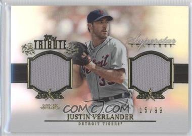 2013 Topps Tribute Superstar Swatches Relics #SS-JVE - Justin Verlander /99