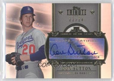 2013 Topps Tribute Tribute to the Stars Autographs #TSA-DSU3 - Don Sutton /24