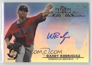 2013 Topps Tribute WBC - Autographs - Blue #WTA-WR2 - Wandy Rodriguez /50