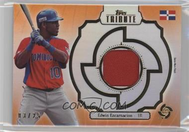 2013 Topps Tribute WBC Prime Patches Orange #WPP-EE - Edwin Encarnacion /25