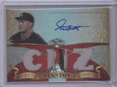 2013 Topps Triple Threads - Autograph Relics - Ruby #TTAR-GST3 - Giancarlo Stanton /1