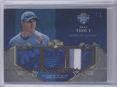 2013 Topps Triple Threads - MLB All-Star Game Patch Relic #ASP-MTR - Mike Trout /9