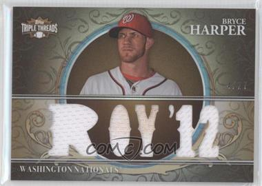 2013 Topps Triple Threads - Relics - Sepia #TTR-BH1 - Bryce Harper /27