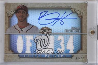 2013 Topps Triple Threads - Rookie and Future Phenom Autographed Relics #161 - Future Phenoms - Bryce Harper /99