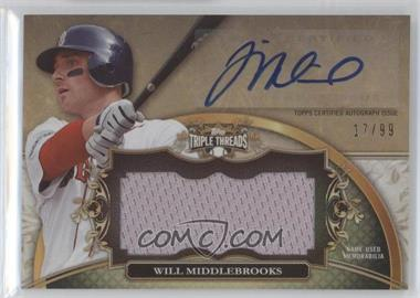 2013 Topps Triple Threads - Unity Autograph Jumbo Relics #UAJR-WM1 - Will Middlebrooks /99