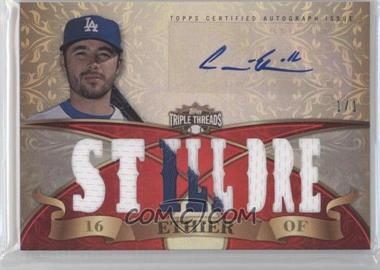2013 Topps Triple Threads Autograph Relics Ruby #TTAR-AET2 - Andre Ethier /1