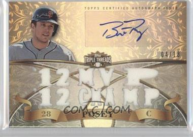 2013 Topps Triple Threads Autograph Relics #TTAR-BPO3 - Buster Posey /18