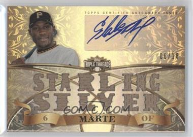 2013 Topps Triple Threads Autograph Relics #TTAR-SM1 - Starling Marte /18