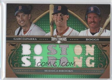 2013 Topps Triple Threads Relic Combos Emerald #TTRC-GMB - Nomar Garciaparra, Will Middlebrooks, Wade Boggs /18