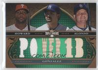 Ryan Howard, Adrian Gonzalez, Yonder Alonso /18