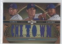Matt Garza, Starlin Castro, Anthony Rizzo /27