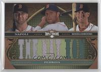 Mike Napoli, Dustin Pedroia, Will Middlebrooks /27
