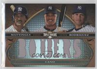 Don Mattingly, Robinson Cano, Alex Rodriguez /36
