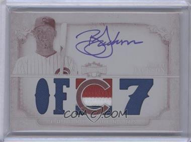 2013 Topps Triple Threads Rookie and Future Phenom Autographed Relics White Whale Printing Plate Magenta #119 - Future Phenoms - Brett Jackson /1