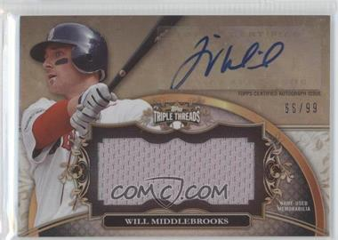 2013 Topps Triple Threads Unity Autograph Jumbo Relics #UAJR-WM1 - Will Middlebrooks /99