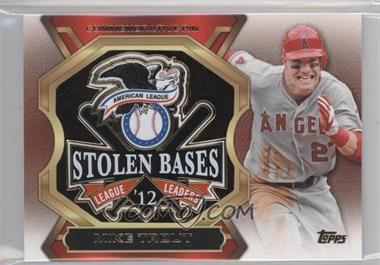 2013 Topps Update Series League Leaders Pins #LLP-MT - Mike Trout
