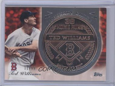 2013 Topps Update Series Pennant Chase Coins Copper #PCC-TW - Ted Williams /99