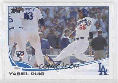 2013 Topps Update Series #US250.3 - Yasiel Puig (Sliding)