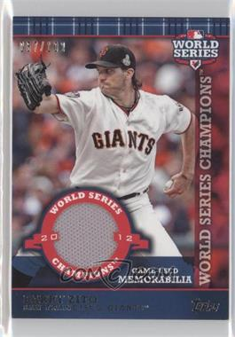 2013 Topps World Series Champions Relics #WCR-BZ - Barry Zito /100