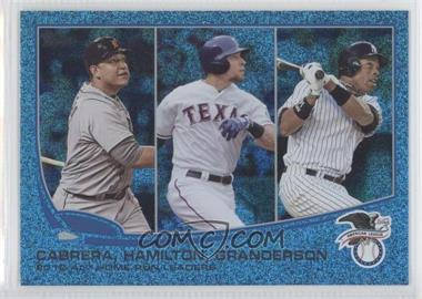 2013 Topps Wrapper Redemption Blue Slate #153 - 2012 AL Home Run Leaders (Miguel Cabrera, Josh Hamilton, Curtis Granderson)