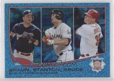 2013 Topps Wrapper Redemption Blue Slate #246 - 2012 NL Home Run Leaders (Ryan Braun, Giancarlo Stanton, Jay Bruce)