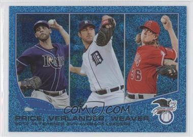 2013 Topps Wrapper Redemption Blue Slate #94 - 2012 AL Earned Run Average Leaders (David Price, Justin Verlander, Jered Weaver)