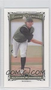 2013 Upper Deck Goodwin Champions Canvas Minis #221 - Clayton Blackburn