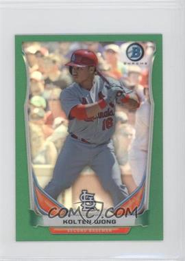 2014 Bowman - Bowman Scout Top 5 Prospects Mini Chrome Refractors - Green #BM-STL2 - Kolten Wong /10