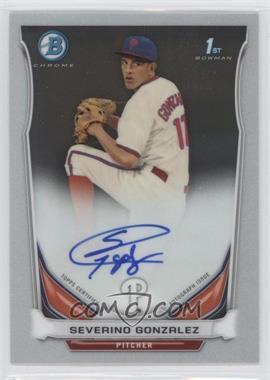 2014 Bowman - Prospect Autographs Chrome #BCAP-SG - Severino Gonzalez