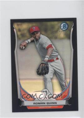 2014 Bowman Bowman Scout Top 5 Prospects Mini Chrome Refractors Black #BM-PP5 - Roman Quinn /15