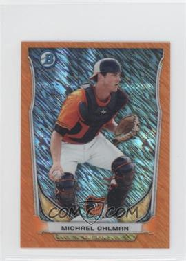 2014 Bowman Bowman Scout Top 5 Prospects Mini Chrome Refractors Orange #BM-BO5 - Michael Ohlman /50