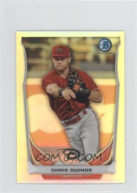 2014 Bowman Bowman Scout Top 5 Prospects Mini Chrome Refractors #BM-AD3 - Chris Owings