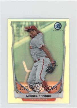 2014 Bowman Bowman Scout Top 5 Prospects Mini Chrome Refractors #BM-PP1 - Maikel Franco