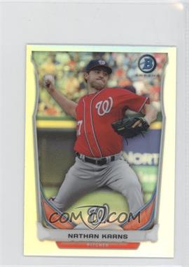 2014 Bowman Bowman Scout Top 5 Prospects Mini Chrome Refractors #BM-WN4 - Nathan Karns