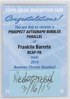Franklin Barreto [REDEMPTIONBeingRedeemed] #/99