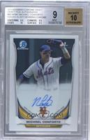 Michael Conforto (Issued in 2015 Bowman Chrome) [BGS9]