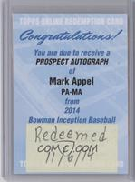 Mark Appel [REDEMPTION Being Redeemed]
