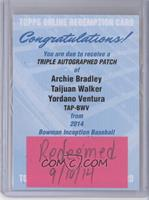 Archie Bradley, Taijuan Walker, Yordano Ventura /5 [REDEMPTION Being …