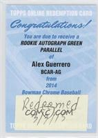 Alex Guerrero /75 [REDEMPTION Being Redeemed]