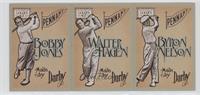 Byron Nelson, Walter Hagen, Bobby Jones