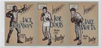Jack Johnson, Joe Louis, Jake LaMotta