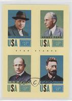 Henry Ford, Joseph Pulitzer, William Randolph Hearst, C.W. Post