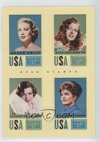 Claudette Colbert, Grace Kelly, Jacqueline Kennedy, Rita Hayworth